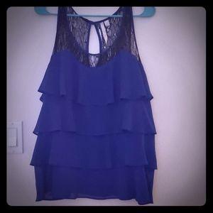 Lauren Conrad XL Blue tank top shirt